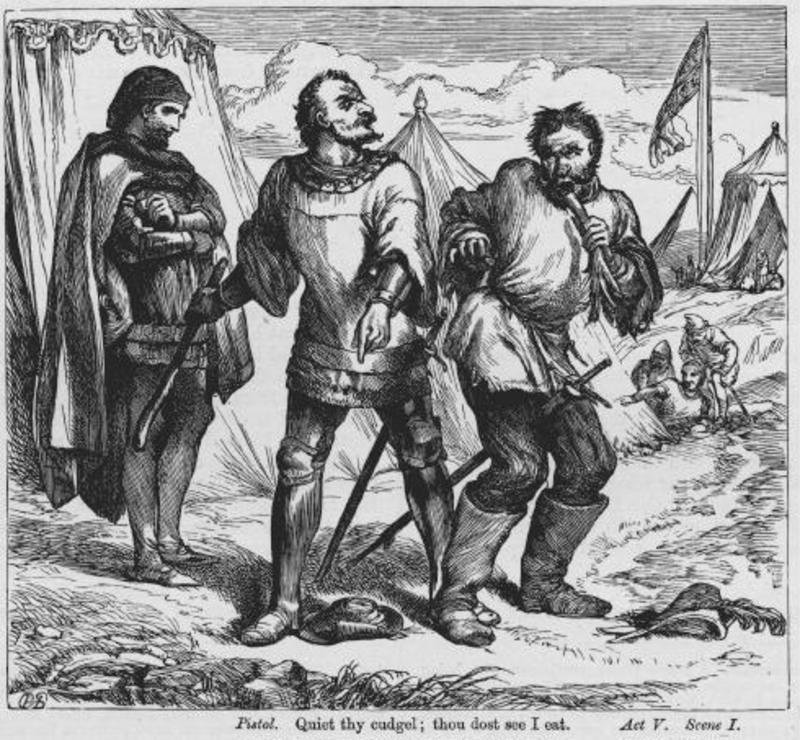 Henry V Pistol eats a leek