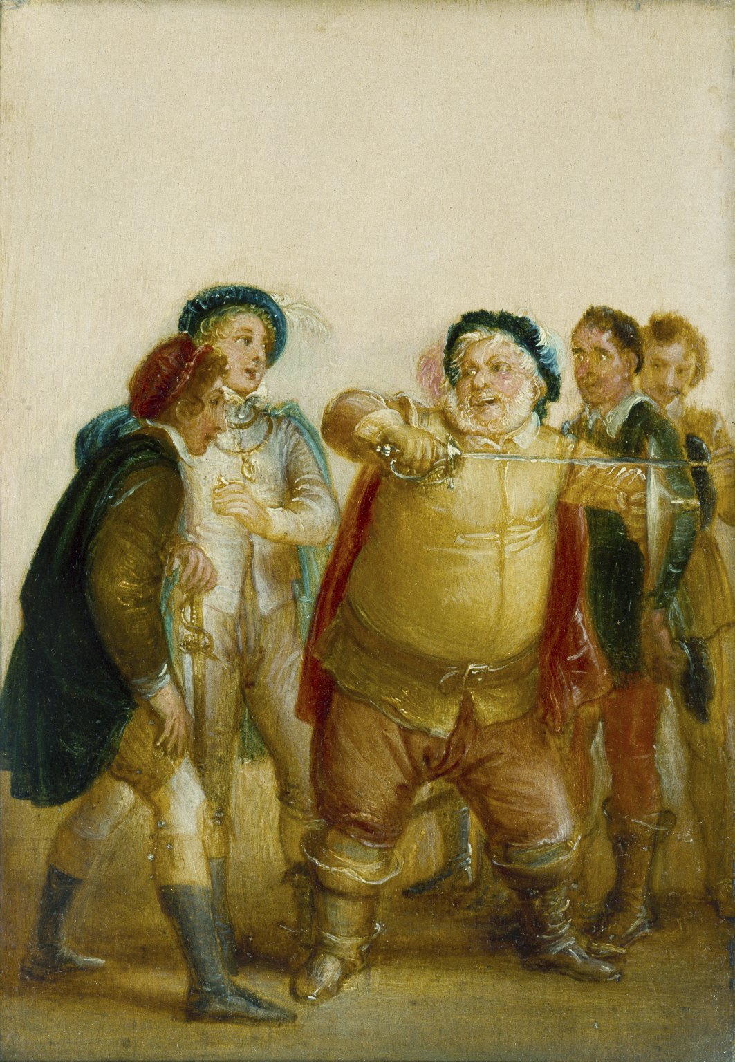 Falstaff_Describing_the_Fight_at_Gadshill_(Stothard,_1827)