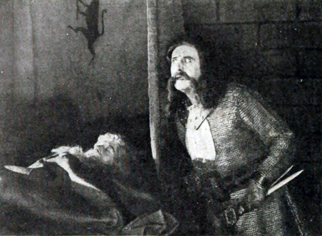 Macbeth 1916 still murdering Duncan