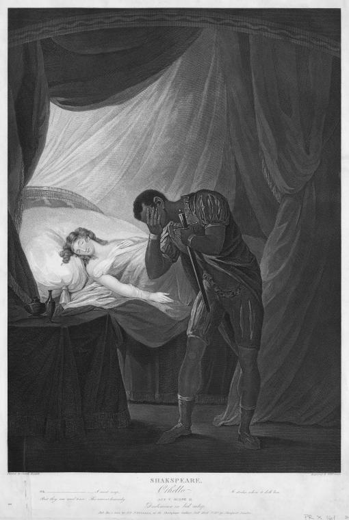 Othello Act V scene Josiah_Boydell_Desdemona_in_bed_asleep