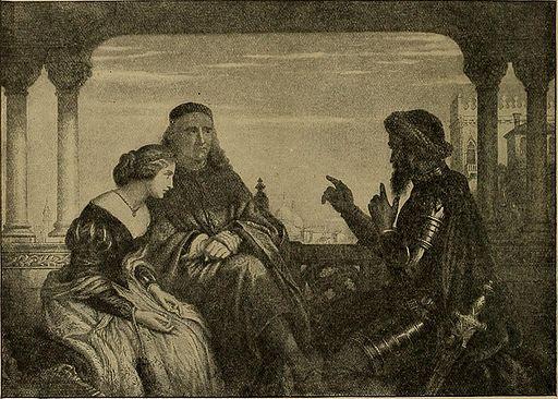 Othello-talking to Desdemona and father